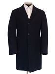 Navy Slash Pockets Cashmere Men's Overcoat | Hickey Freeman Overcoats Collection | Sam's Tailoring Fine Men Clothing