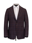 Maroon Plaid Heritage Weightless Men's Jacket | Hickey Freeman Sport Coat | Sam's Tailoring Fine Men Clothing
