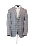 Light Grey Super 140's Wool Check Infinity Jacket | Hickey Freeman Sport Coat | Sam's Tailoring Fine Men Clothing