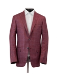 Berry Silk Cashmere Linen Windowpane Jacket | Hickey Freeman Sport Coat | Sam's Tailoring Fine Men Clothing
