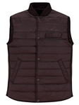 Burgundy Water Repellent Lightweight Puffer Vest | Stone Rose Vests | Sams Tailoring Fine Men Clothing