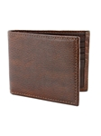 Brown Italian Glazed Milled Calfskin Leather Billford Wallet | Torino Leather Wallets | Sam's Tailoring Fine Men Clothing