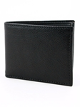 Black Italian Glazed Milled Calfskin Leather Billford Wallet | Torino Leather Wallets | Sam's Tailoring Fine Men Clothing