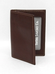 Brown Tumbled Glove Leather Gusseted Card Case | Torino Leather Wallets | Sam's Tailoring Fine Men's Clothing