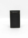 Black Tumbled Glove Magnetic Money Clip | Torino Leather Wallets | Sam's Tailoring Fine Men's Clothing