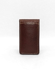 Brown Tumbled Glove Magnetic Money Clip | Torino Leather Wallets | Sam's Tailoring Fine Men's Clothing