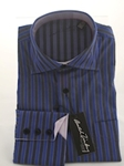 Arnold Zimberg Blue Stripes Long Sleeves Shirt 400204 - Shirts | Sam's Tailoring Fine Men's Clothing