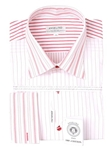 Red and White Stripe Dress Shirt