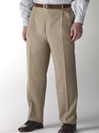 Hart Schaffner Marx Performance Tan Pleated Trouser 545389659883 - Trousers | Sam's Tailoring Fine Men's Clothing