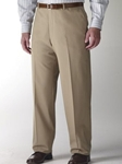 Hart Schaffner Marx Performance Tan Flat Front Trouser 545389659881 - Trousers | Sam's Tailoring Fine Men's Clothing