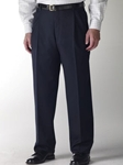 Hart Schaffner Marx Navy Double Pleat Trouser 409423449720 - Trousers | Sam's Tailoring Fine Men's Clothing