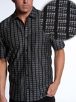 Pavings Short Sleeve Shirts Collection 05121B01 - Jhane Barnes | SamsTailoring | Fine Men's Clothing