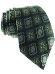 XMI Platinum Charcoal Medallion Tie A09715-CHARCOAL - Neckwear | Sam's Tailoring Fine Men's Clothing