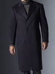 Hickey Freeman Navy Cashmere Overcoat 005105002702 - Outerwear | Sam's Tailoring Fine Men's Clothing