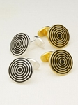 Hickey Freeman Spiral Cufflink 5603912R - Cufflink and Bag Accesories | Sam's Tailoring Fine Men's Clothing
