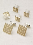 Hickey Freeman Triple Square Stud Set 5603922R - Cufflink and Bag Accesories | Sam's Tailoring Fine Men's Clothing
