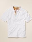 Hart Schaffner Marx Short Sleeve Polo with Madras Trim 5G141108 - Shirts | Sam's Tailoring Fine Men's Clothing